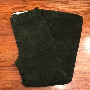 Zara Green Flare Women's Corduroy Pant